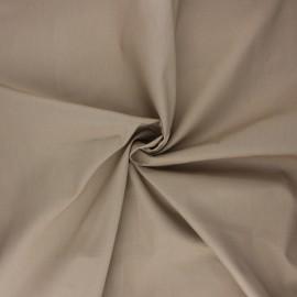 Satin poplin cotton fabric - sand Alix x 10cm