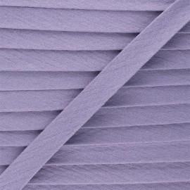 Biais double gaze de coton 20 mm - parme x 1m