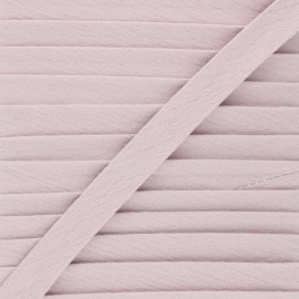Cotton double gauze bias binding - rose water x 1m