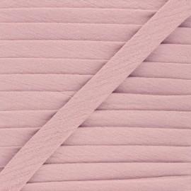 Biais double gaze de coton 20 mm - vieux rose x 1m