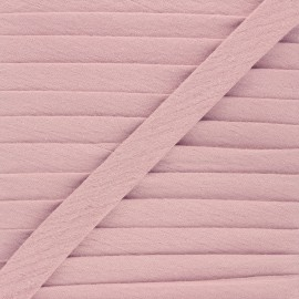 Cotton double gauze bias binding - old pink x 1m