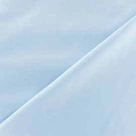 Glossy lycra fabric - sky x 10cm