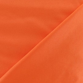 Glossy lycra fabric - satiny orange x 10cm