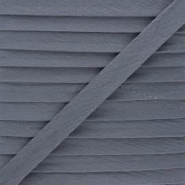 Biais double gaze de coton 20 mm - gris foncé x 1m