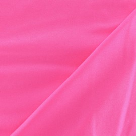 Fabric Lycra fluo rose satiné x 10cm