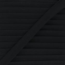 Biais double gaze de coton 20 mm - noir x 1m