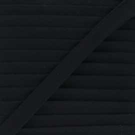 Cotton double gauze bias binding - black x 1m