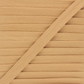 Cotton double gauze bias binding - camel x 1m