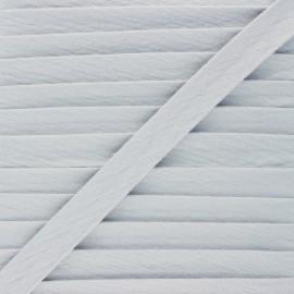 Biais double gaze de coton 20 mm - gris x 1m