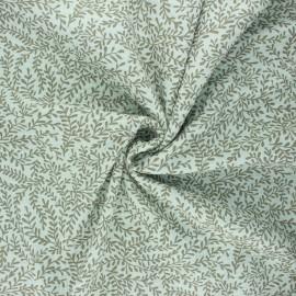 Poppy double gauze fabric - mint Leaves  x 10cm