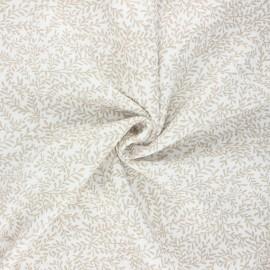 Poppy double gauze fabric - raw Leaves  x 10cm