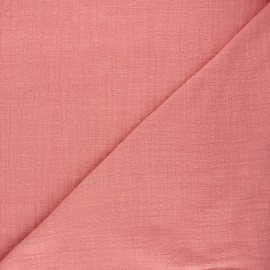 Flamed cotton voile fabric - rosewood Victorine x 10cm
