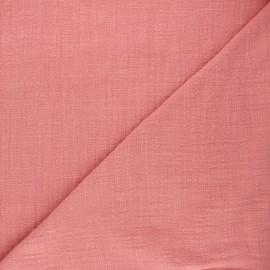 Tissu voile de coton flammé Victorine - bois de rose x 10cm