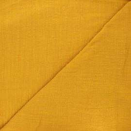 Tissu simple gaze Victorine - jaune moutarde x 10cm