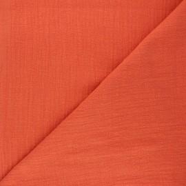 Flamed cotton voile fabric - pumpkin Victorine x 10cm