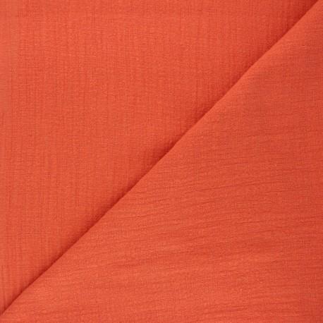 Tissu simple gaze Victorine - citrouille x 10cm