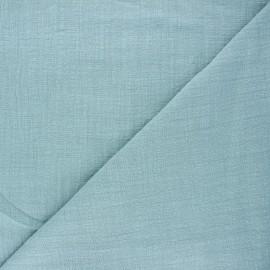 Tissu voile de coton flammé Victorine - sarcelle x 10cm