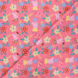 Tissu coton Peppa's summer - rose x 10cm