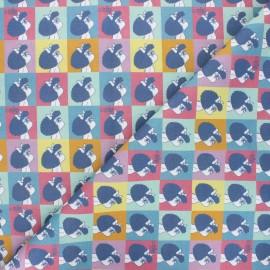 Cotton fabric - multicolor Summer Mafalda x 10cm