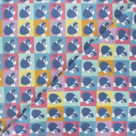 Tissu coton Summer Mafalda - multicolore x 10cm