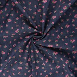 Tissu Jeans fluide Rosea - bleu brut x 10cm