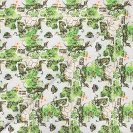 Cotton fabric - white Jurassic Park x 10cm