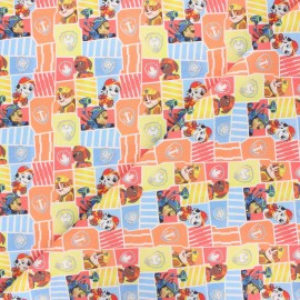 Tissu coton Paw patrol - multicolore x 10cm