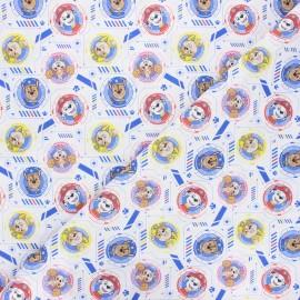Tissu coton Paw patrol team - blanc x 10cm