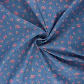 Light denim fabric - blue Rosea x 10cm