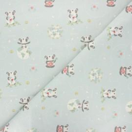 Cretonne cotton fabric - celadon Imagine x 10 cm