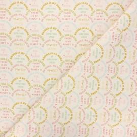 Tissu coton cretonne Nature is my home - naturel x 10cm