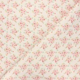 Cretonne cotton fabric - natural Flower lover x 10 cm