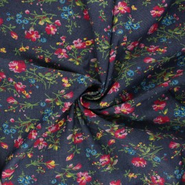 Tissu Jeans fluide Delia - bleu brut x 10cm