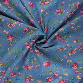 Tissu Jeans fluide Delia - bleu x 10cm
