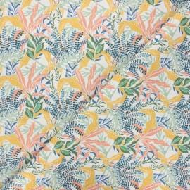 Cretonne cotton fabric - off-white Algae x 10 cm