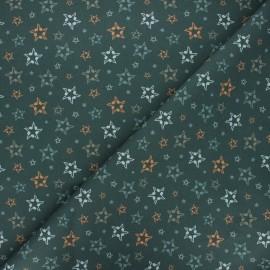 Tissu coton cretonne Musical stars - kaki foncé x 10cm