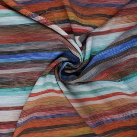 Tissu viscose Dodie - multicolore x 10cm