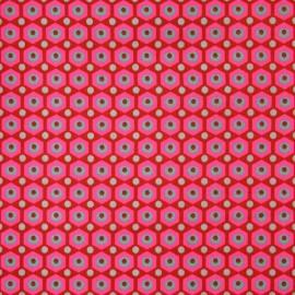 Tissu enduit coton Miko rouge x 10cm