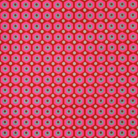 Miko coated cotton fabric - red x 10cm