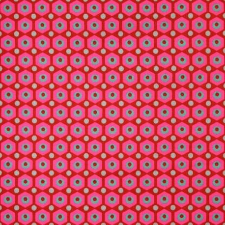 Tissu enduit coton Miko rouge