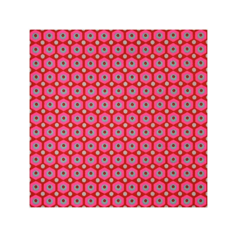 Tissus pas cher tissu enduit coton miko rouge - Tissus rouge pas cher ...
