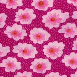 Fabric coton Osami rose x 10cm