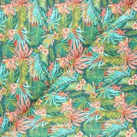 Poplin cotton fabric - peacock blue Grenadines x 10cm