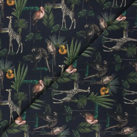 Poplin cotton fabric - midnight blue Kordofan x 10cm