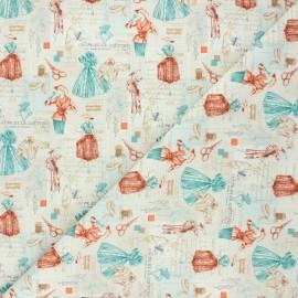 Tissu popeline de coton Mode - crème x 10cm