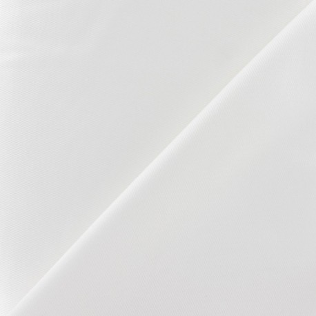 Stitched Cotton Fabric - White x 10cm