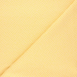 Tissu maille jacquard Basil - jaune x 10 cm
