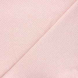 Jacquard knitted fabric - light pink Basil x 10 cm