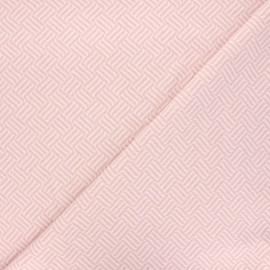 Tissu maille jacquard Basil - rose clair x 10 cm