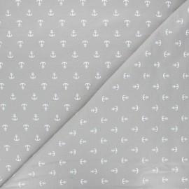 Printed jersey fabric - grey Ancora x 10cm